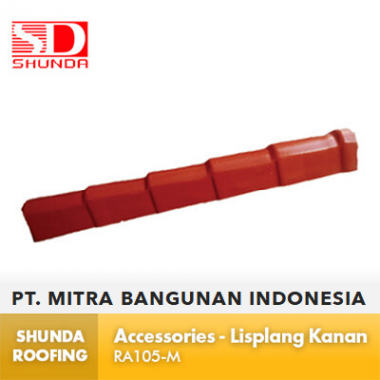 Shunda Roofing Atap UPVC - Accessories - Lisplang Kanan - RA105-M