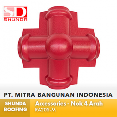 Shunda Roofing Atap UPVC - Accessories - Nok 4 Arah - RA205-M