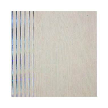 Shunda Plafon PVC - Modern Linears - Ivory Wood With Silver Lines - MA 20064