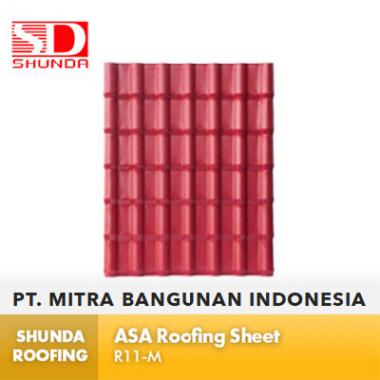 Shunda Roofing Atap UPVC - Red ASA Roofing Sheet - RA11-M