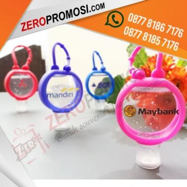 Souvenir Hand Sanitizer Bulat + Gantungan Pocket Holder Custom