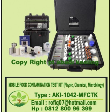 MOBILE FOOD CONTAMINATION TEST KIT (Physic, Chemical, Microbilogy)