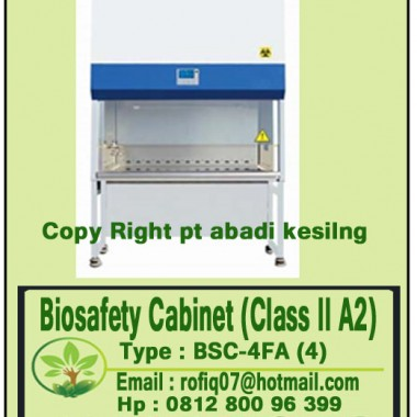 Biosafety Cabinet (Class II A2) TYPE : BSC-4FA (4′)