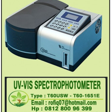 UV-VIS SPECTROPHOTOMETER type : T-60USW