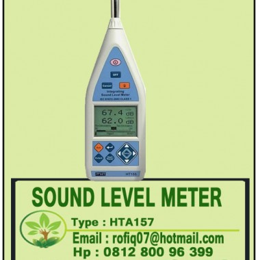 SOUND LEVEL METER CLASS 1 WITH ANALYSIS OF 1/3 OCTAVE BAND HT-157
