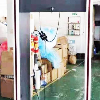 Pintu Metal detektor Multi Zones dgn Monitor 30inch deteksi suhu Badan