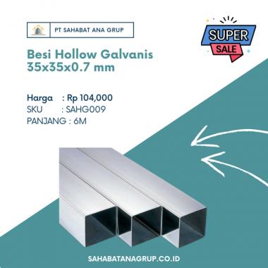Besi Hollow Galvanis 35x35x0.7 mm