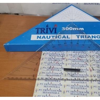 segitiga navigasi peta kapal mistar, nautical triangle navigational Protractor