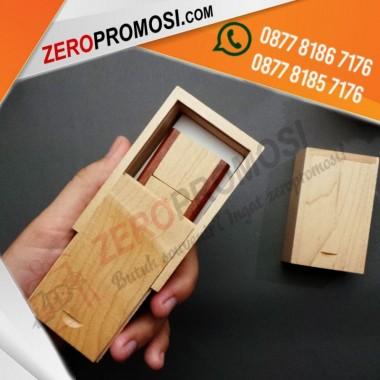Sedia Packaging Sliding Box Kayu Untuk Kemasan Flashdisk Bisa Cetak Logo Murah