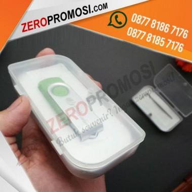 Kemasan PP Case Swivel Box Packaging Souvenir Flashdisk Bisa Cetak Logo