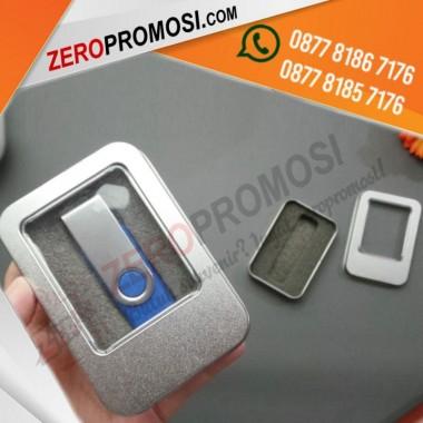 Kemasan Usb Flashdisk Metal Tinbox Kecil Custom Logo Murah