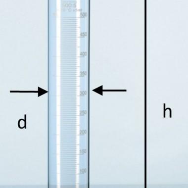hydro jar gelas ukur kaca,measuring cylinder class B schott Duran